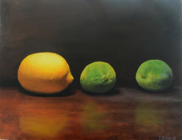 Lemon and Limes Still Life. Original art by Steve Driver