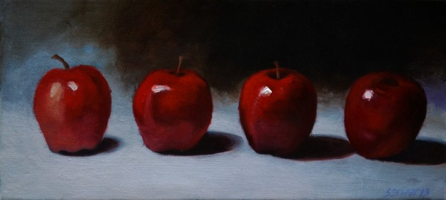 Red Apple Study. Original art by Steve Driver