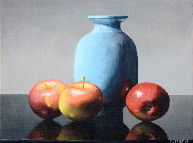 Apples and Studio Vase. Original art by Steve Driver