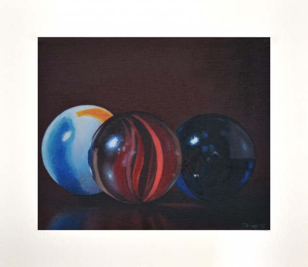 Marbles 5 Giclee Print. Original art by Steve Driver