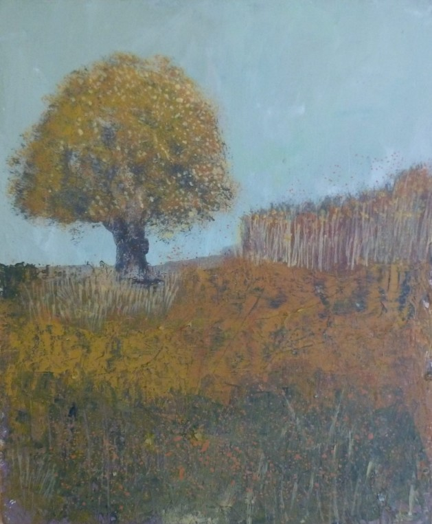 Autumn Landscape. Original art by Fiona Philipps