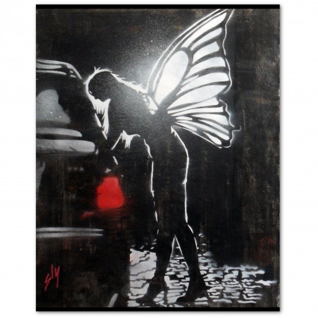 Street Fairy 1 (On The Daily Telegraph) + FREE Poem. Original art by Juan Sly