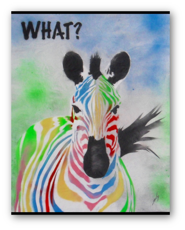 What! Zebra. (On The Daily Telegraph). Original art by Juan Sly