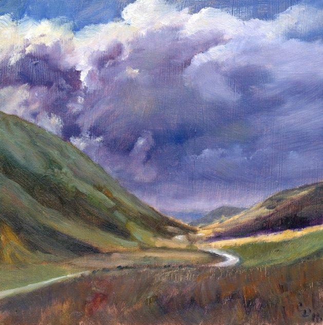 Valley Storm. Original art by Christine Derrick