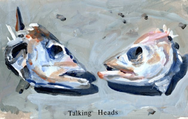 Talking Heads. Original art by Steve Strode