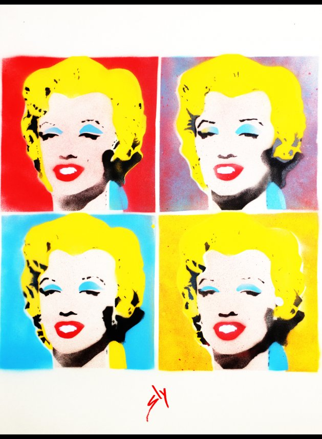 Other people's paintings only much cheaper: No 4. Warhol. Original art by Juan Sly
