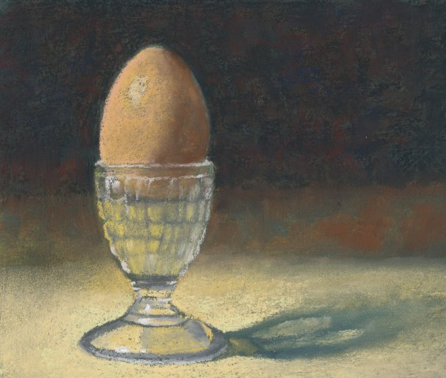 Glass Eggcup. Original art by Christine Derrick