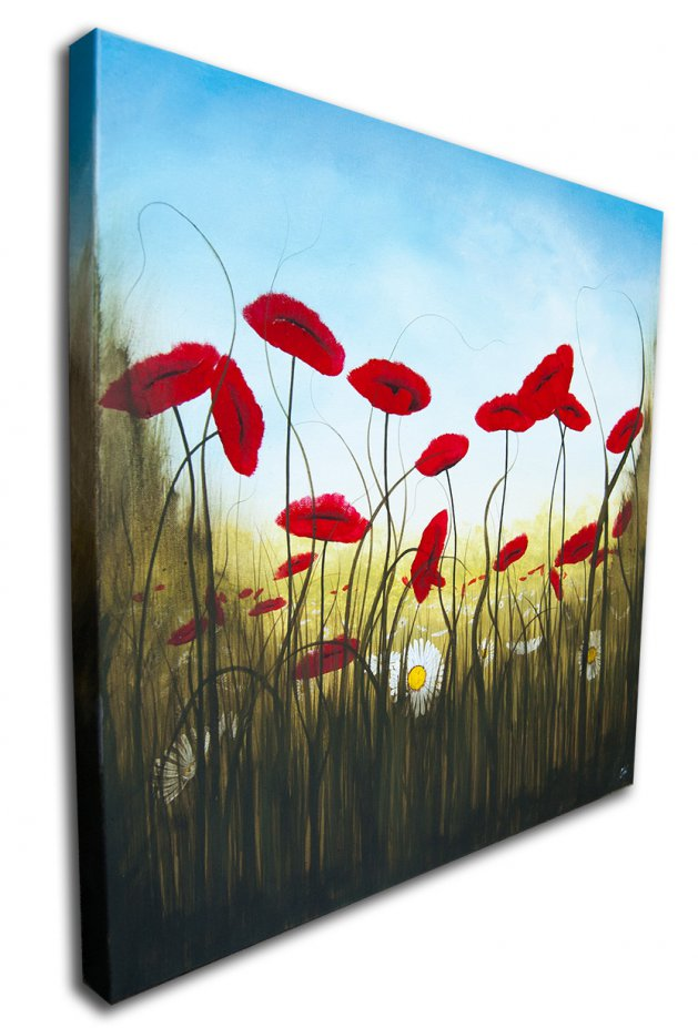 Ether Poppies. Original art by C Wood