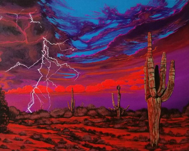Desert storm. Original art by Zoe Adams