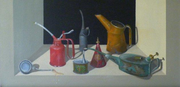 SPILLAGE. Original art by Janette Boskett