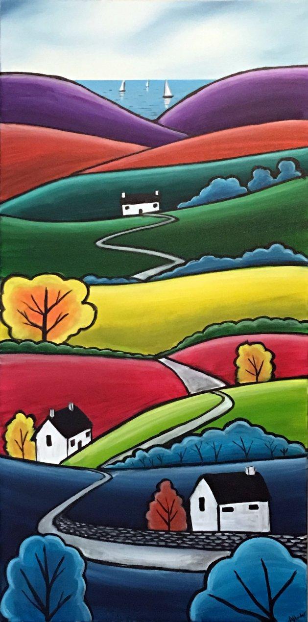 Over The Hill And Far Away 3. Original art by Aisha Haider