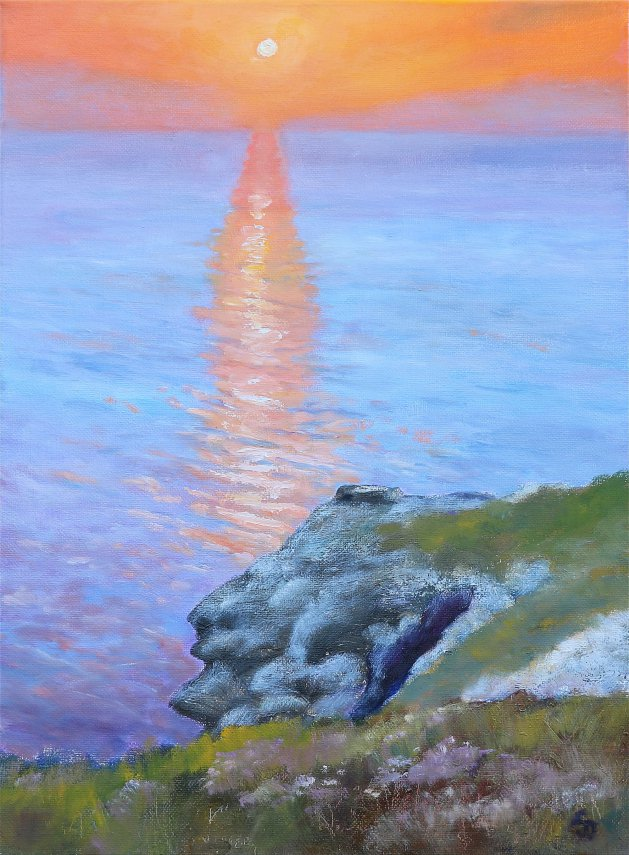 Sundown. Original art by Christine Derrick