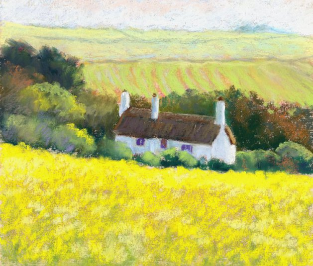 Summer\'s Yellow. Original art by Christine Derrick