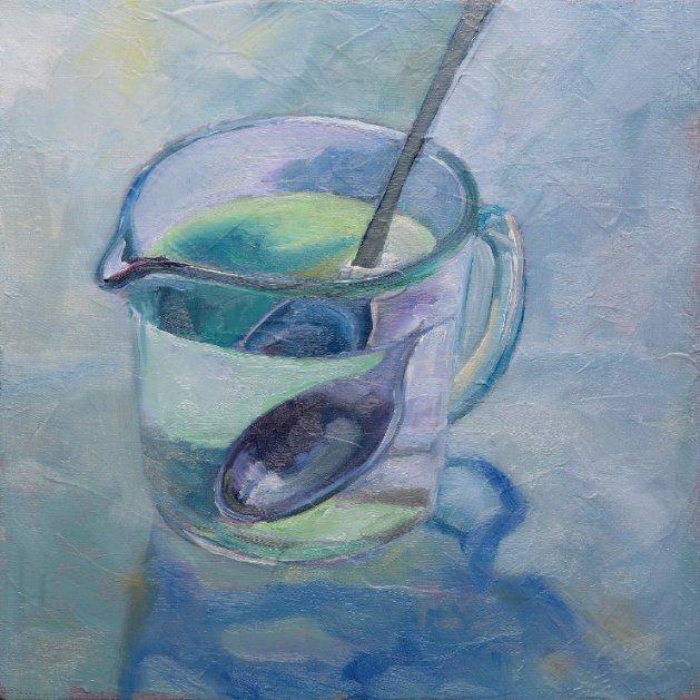 Water-jug and Spoon. Original art by Christine Derrick