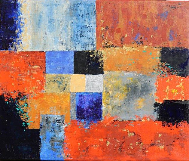 Patchwork Jazz. Original art by Christine Derrick