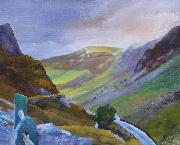 Honister Pass. Original art by Christine Derrick
