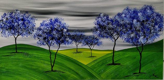 Fairy Forest. Original art by Ken Cowins
