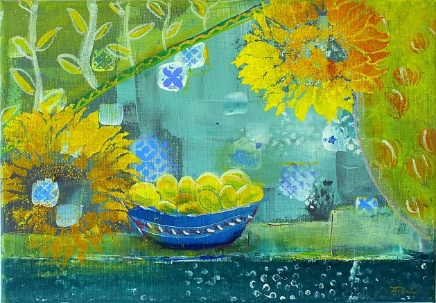 A Lemony Life. Original art by Tracey Unwin