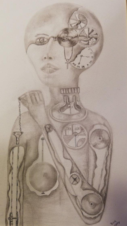 Clockwork Lady. Original art by Nick Gray