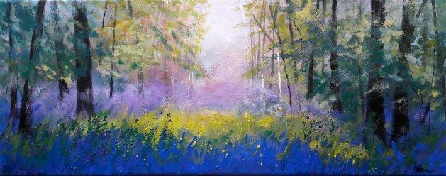 Misty Bluebells. Original art by Teresa Tanner