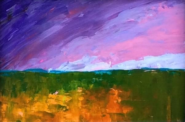 Purple Sky. Original art by Andy Nash