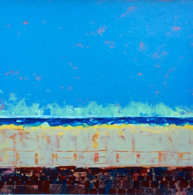 Seascape with Sand. Original art by Andy Nash