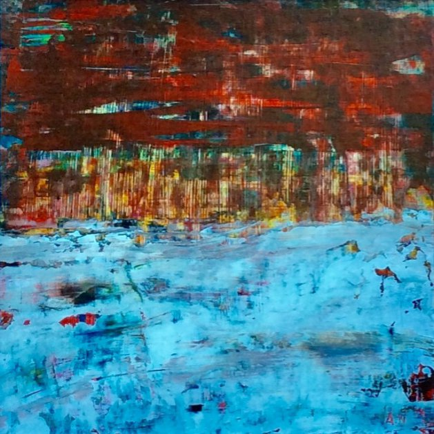 Abstract with White. Original art by Andy Nash