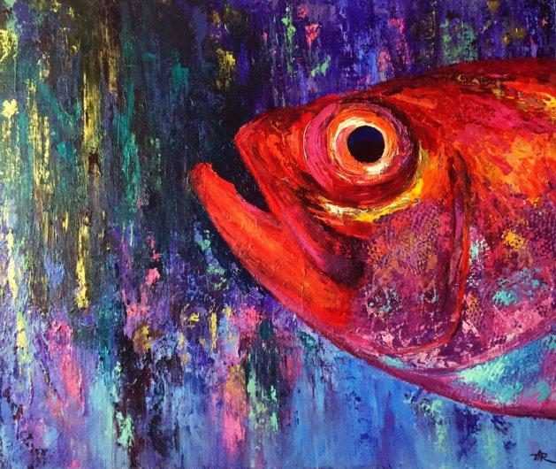 Red Head. Original art by Alena Rumak
