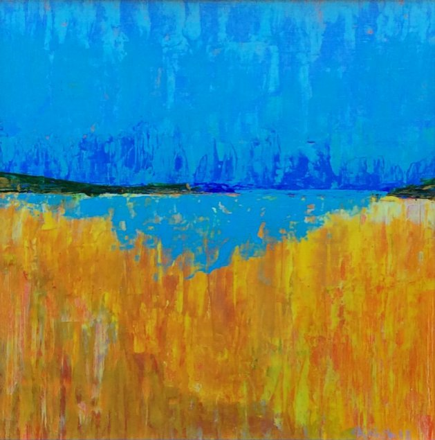 Seascape with Gold. Original art by Andy Nash