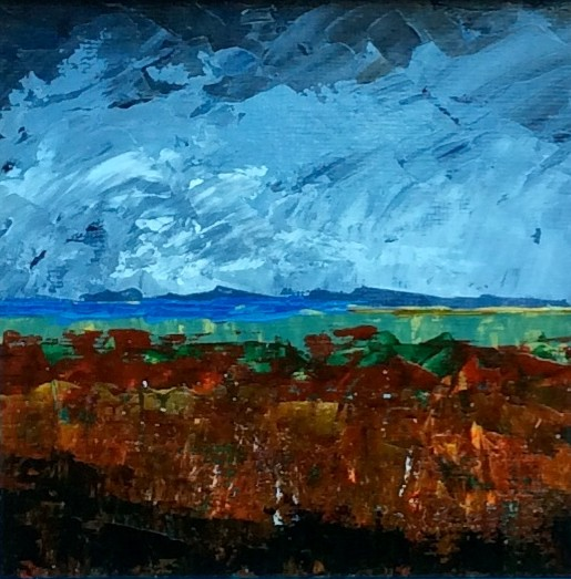 Stormy Sky. Original art by Andy Nash