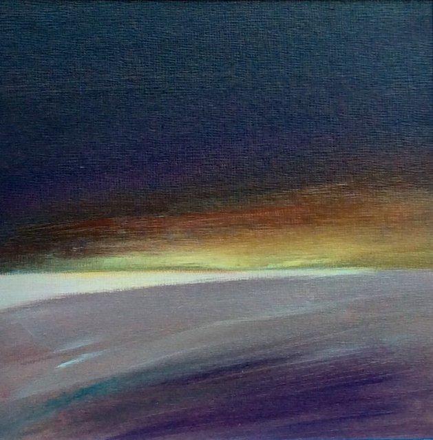 Purple Landscape. Original art by Andy Nash