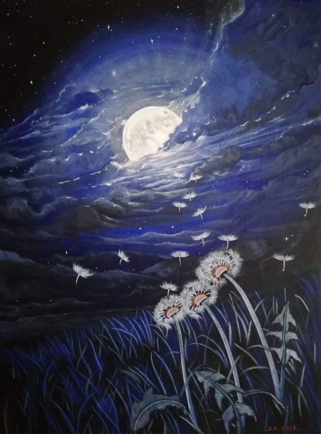 Moon Magic.. Original art by Zoe Adams