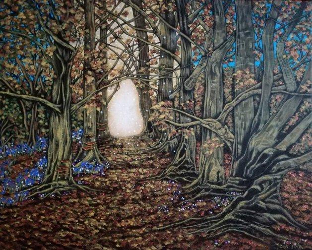 Into the woods.. Original art by Zoe Adams
