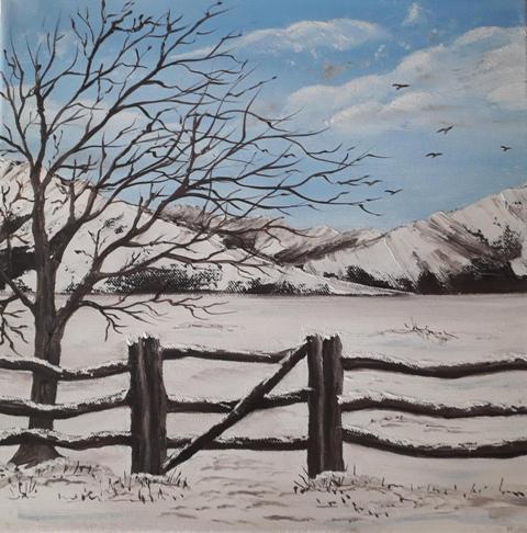Winter Gate. Original art by Rona Benson