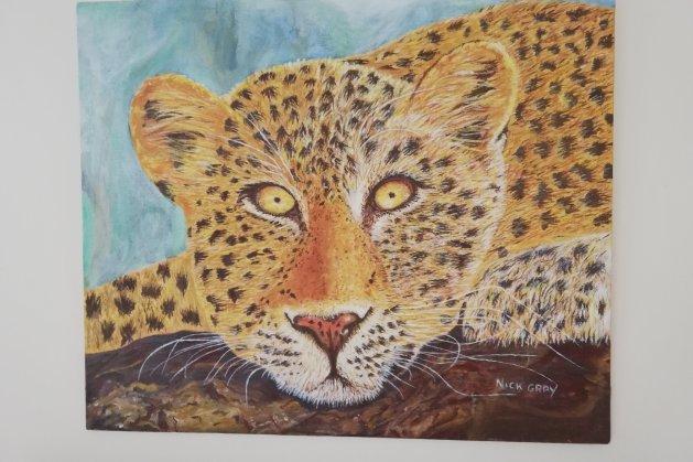 Leopard. Original art by Nick Gray