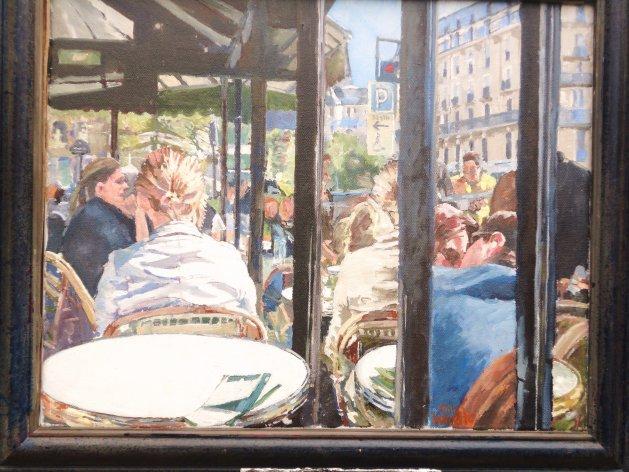 Left Bank Cafe Terrace. Original art by John Wardle
