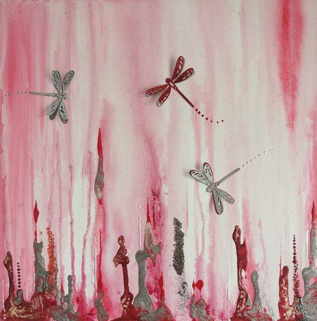 Dragonfly Dance. Original art by Tina Ashton