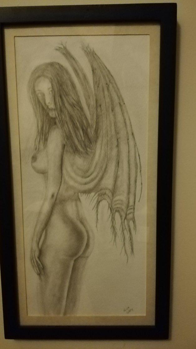 Female vampire. Original art by Nick Gray