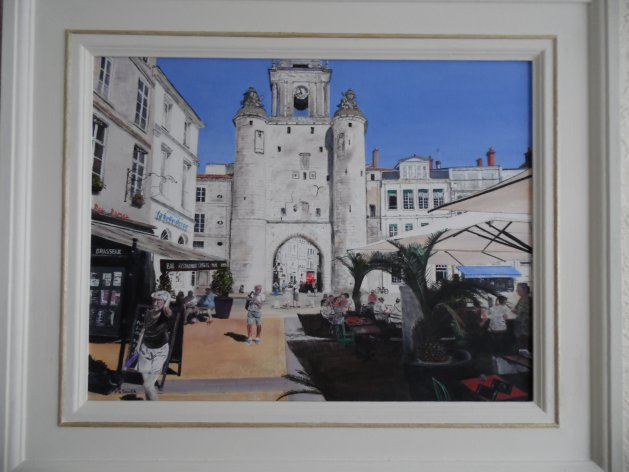 La'Rochelle,France. Original art by Philip Smith